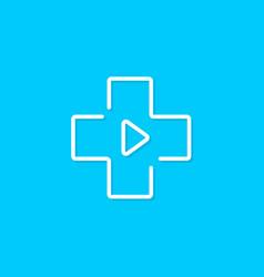 digital virtual medical service logo vector image