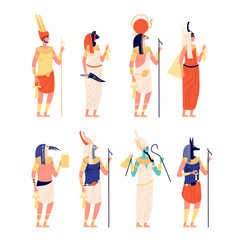 egypt characters ancients egyptian god old vector image