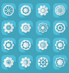 flat modern design with shadow icon flower vector image