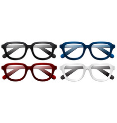 four pair of eyeglasses vector image
