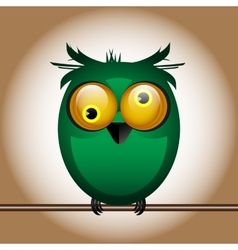 Funny cute bird owl vector