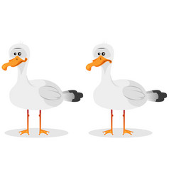 Funny cute seagull vector