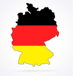 germany deutschland map with flag vector image
