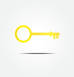 gold Key symbol icon vector image