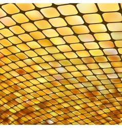 Golden business mosaic vector image