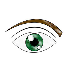 green eye cartoon people watch image vector image