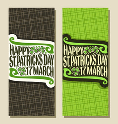 Greeting cards for saint patricks day vector