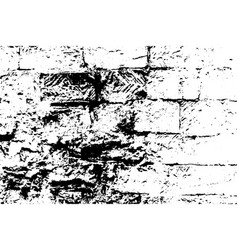 Grunge old brick texture black and white vector