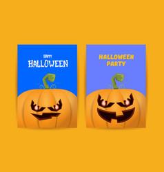 halloween vertical cartoon posters set with vector image