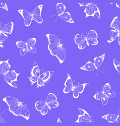 hand drawn insects pattern or background vector image