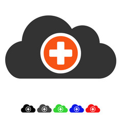 Health care cloud flat icon vector