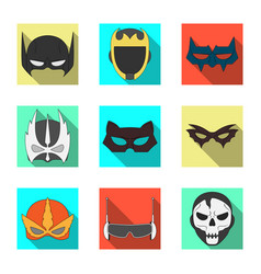Hero and mask symbol set vector