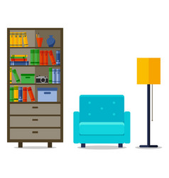 home interior with armchair for web site print vector image