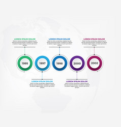 horizontal timeline infographic design template vector image