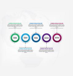 Horizontal timeline infographic design template vector