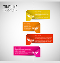 Infographic timeline report template made from vector