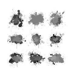ink splashing element set vector image