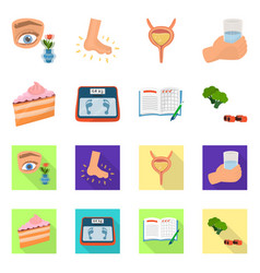 isolated object of diet and treatment icon vector image