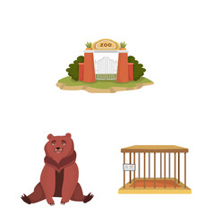 Isolated object zoo and park icon collection vector