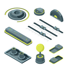 isometric buttons realistic 3d pictures of vector image