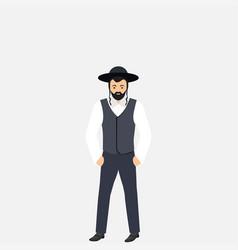 Jew man character vector