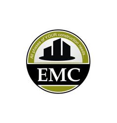 Letter emc real estate emblem template vector