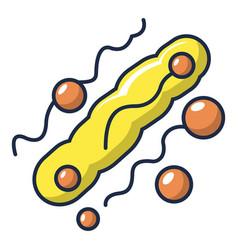Long oval virus icon cartoon style vector