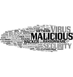 malicious word cloud concept vector image