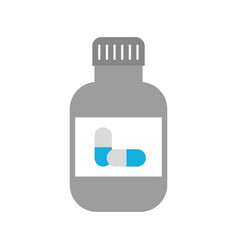 medicine bottle capsule healthcare symbol vector image