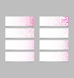 Modern dot pattern banner background template set vector