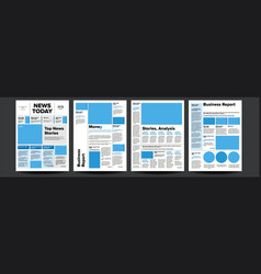 newspaper with headline images news page vector image