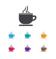 Of journey symbol on tea cup vector