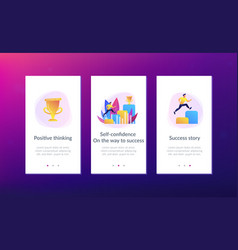 On the way to success app interface template vector