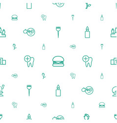one icons pattern seamless white background vector image