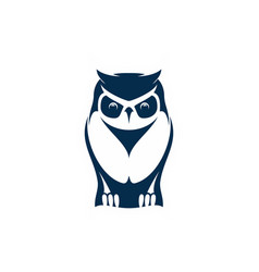 owl wise bird isolated feathered animal mascot vector image