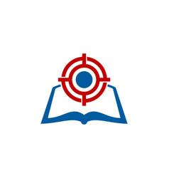 Page target logo icon design vector