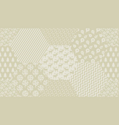 pale ivory color xmas seamless pattern vector image