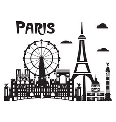 Paris city skyline 7 vector