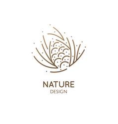 Pine cone logo design vector