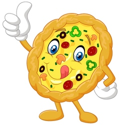 Pizza give thumb up vector image