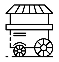 Popcorn cart shop icon outline style vector