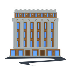 Public city building in 1930s style isolated vector