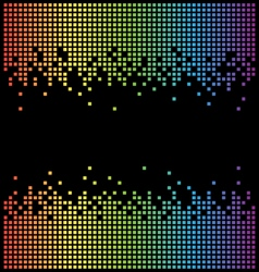 Rainbow pixel background and black copy space vector