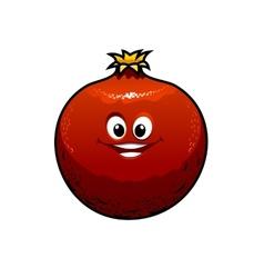 Red cartoon pomegranate vector image