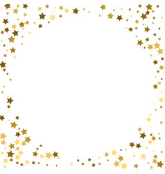 round gold frame or border of random scatter vector image