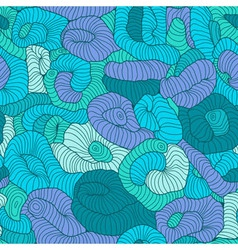 Seamless tangled pattern in blue and green colors vector image