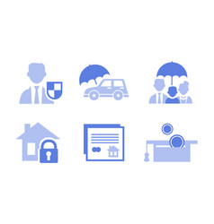 set 6 monochrome icons related to vector image