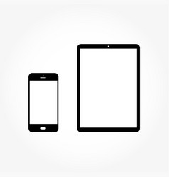 set from your phone and tablet with light vector image