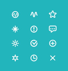 Set of icons on a blue background for technical vector