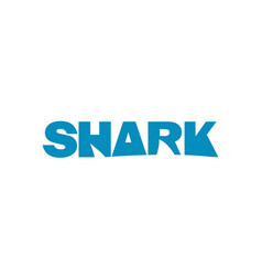 Shark logo blue text vector